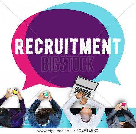 Recruitment Employment Hiring Human Resource Concept poster