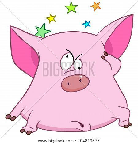 Cute Pig With Stars