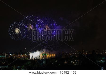 Fireworks View From The Jacques-cartier Bridge