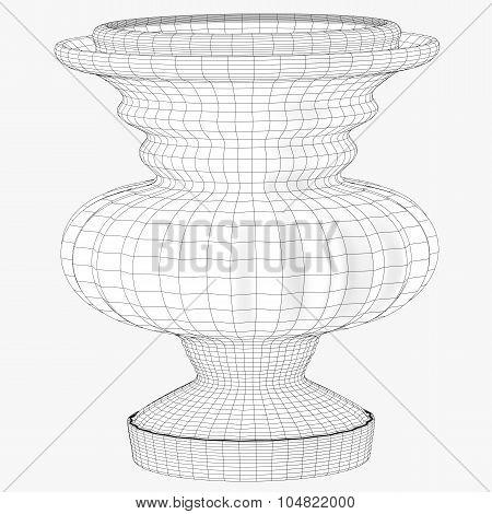 Oriental Vase Wireframe