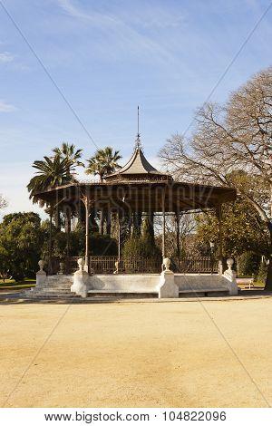 Music Kiosk In The Ciutadella Park In Barcelona, Spain.