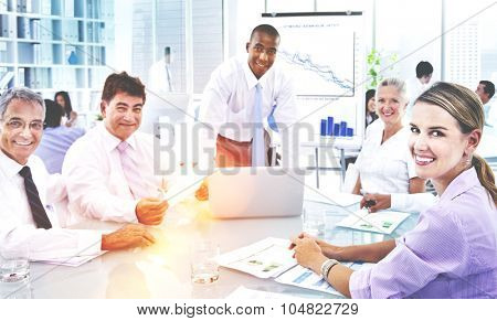 Group Business People Meeting Office Partnership Concept
