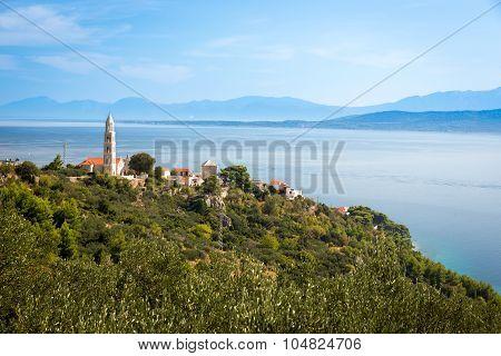 Medieval Village At Adriatic Coast, Croatia