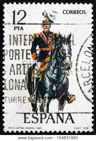 Postage Stamp Spain 1978 Captain General, Uniform