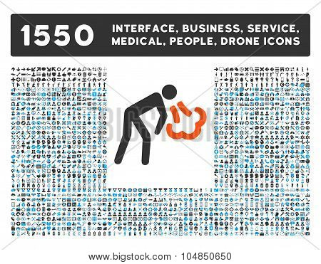 Cough Icon and More Interface, Business, Medical, People, Awards Vector Symbols