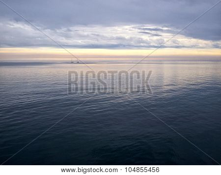Sailing Yacht Boat Sailing On The Ocean