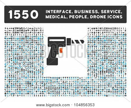 Drill Icon and More Interface, Business, Medical, People, Awards Vector Symbols