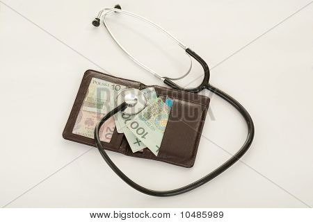 Stethoscope Examination Of The Wallet