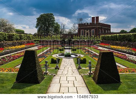 Flower Garden at Hampton Court Palace