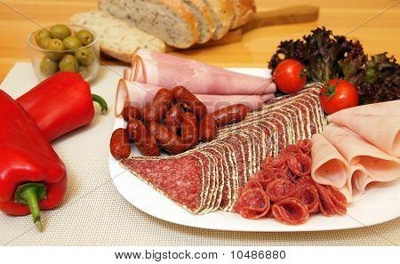 Dinner salami plate