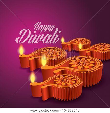 Diwali Diya Vector (Oil Lamp)