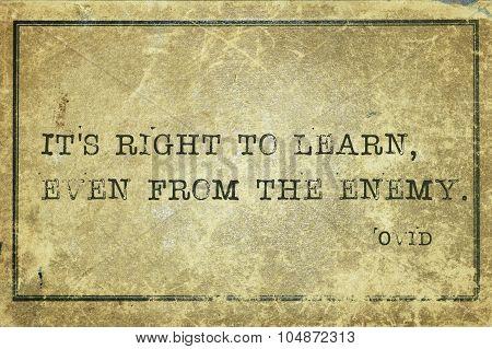 Learn Enemy Ovid
