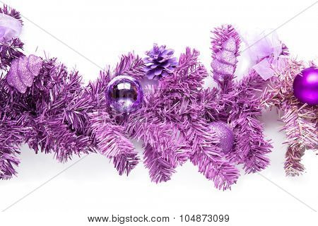 Magenta tree branch with isolated on white. poster