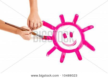 Painting A Happy Sun