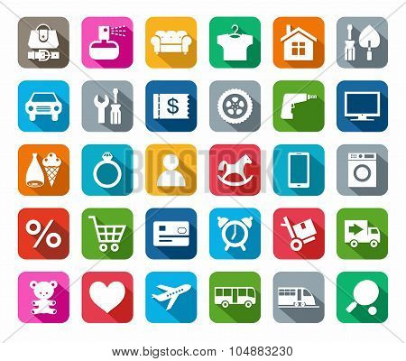 Icons, Online Store, Categori...