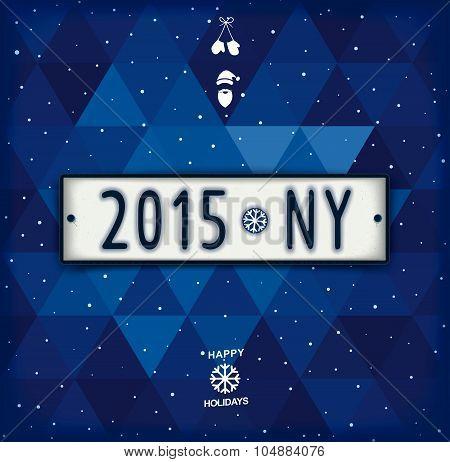 Creative New year 2015 design signboard