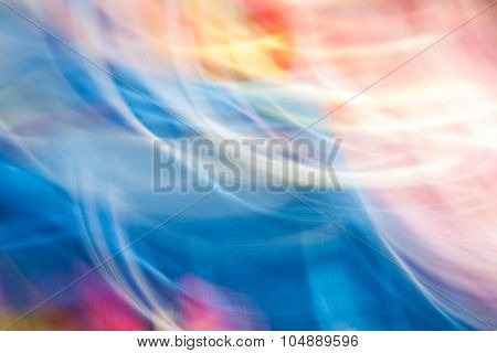 Colorful Abstract Movement Light Vivid Color Blurred Background.