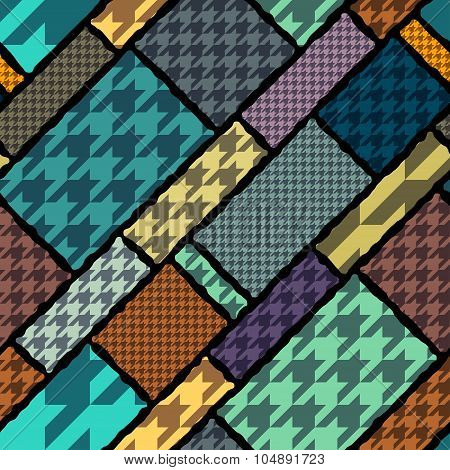 Houndstooth background pattern.