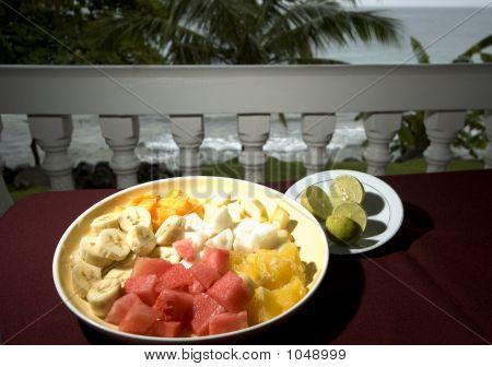 Fruit Salad At Resort