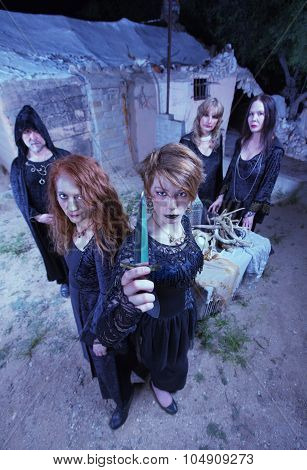 Witches With Sacrifical Knife