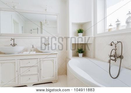 Light Bathroom With Two Sinks