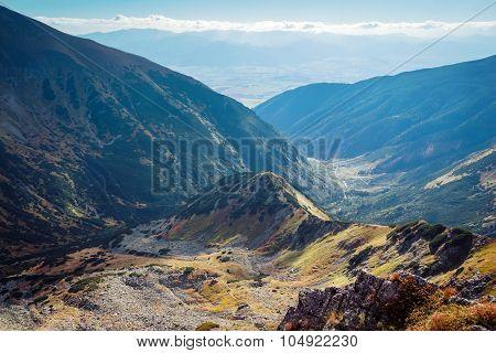 skyline view from Placlive peak at Tatras