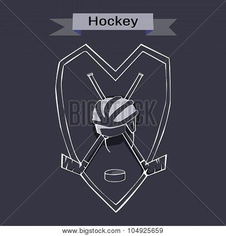 Hockey Badge Emblem Symbol
