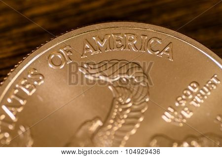 America (word) On Us Gold Eagle Coin