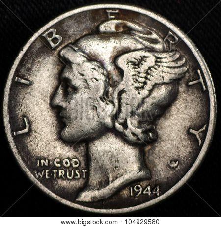 American Mercury Silver Dime Coin