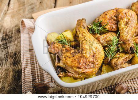 Festive Slowly Roasted Chicken
