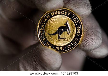 Australia Kangaroo Gold Coin
