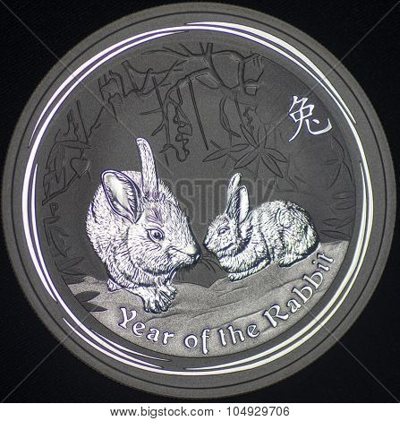 Australia Silver Coin Year Of The Rabbit (reverse)