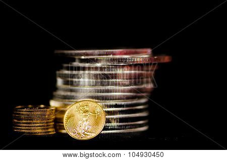 Blood Tainted  Gold & Silver Coins