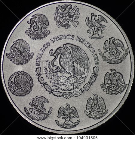 Mexican Libertad Silver Coin (reverse)