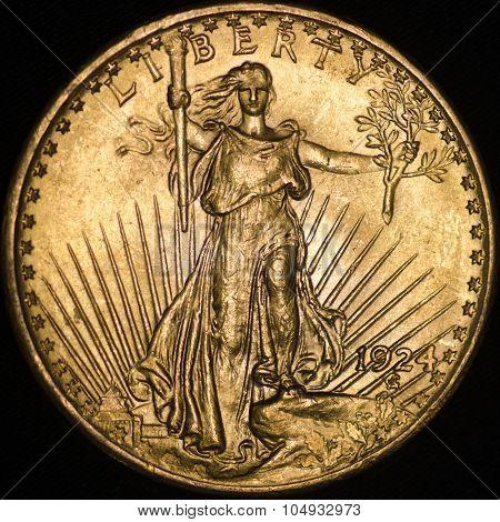 United States Saint Gauden's Gold Coin (obverse)