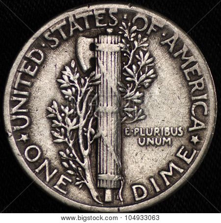 United Statues Mercury Silver Dime Coin