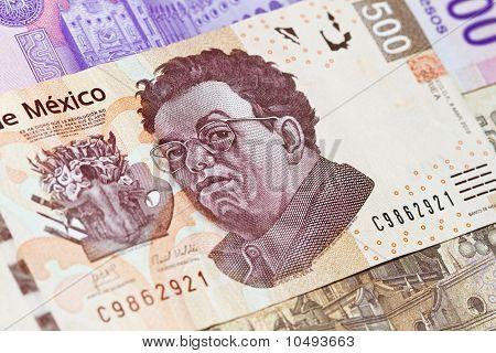 New mexican 500 pesos bill Diego Rivera