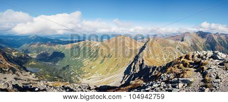 Ostry Rohac and Volovec peaks at Tatras