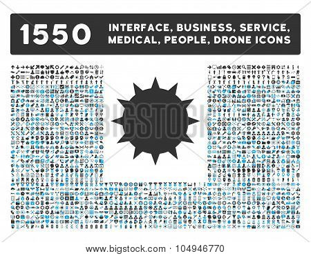 Bacterium Icon and More Interface, Business, Medical, People, Awards Glyph Symbols