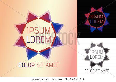 Abstract logo, fashion luxury style, Gems logo, diamond logo, jewelry, jewellery, jewelery or gems company poster