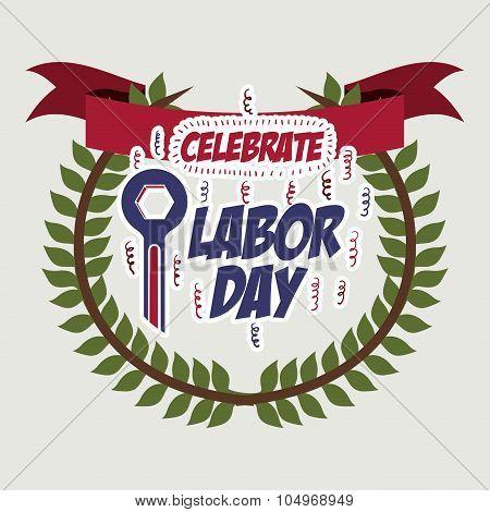 Labor day digital design, vector illustration eps 10 poster