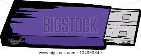 Purple Flash Drive