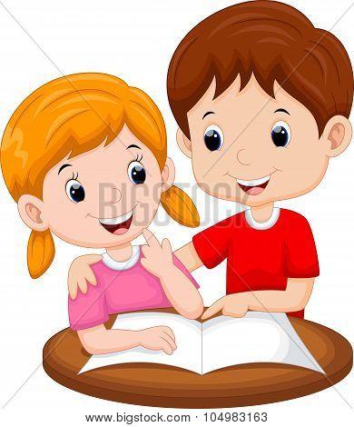 Teaching sister cartoon