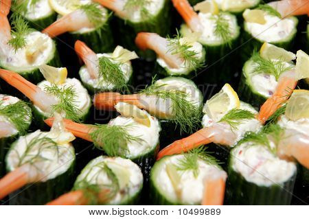 Appetizing party food