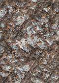 Artificial gouged and scarred metal texture poster