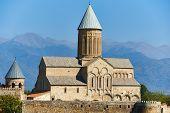 Alaverdi church and monastery complex landmark in Kakheti region of Georgia poster