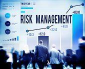 Risk Management Hazard Dangerous Prevent Protect Concept poster