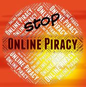 Stop Online Piracy Representing Warning Sign And Patented poster