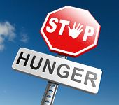 stop hunger suffering malnutrition starvation and famine caused by food scarcity undernourished bad harvest poster