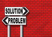 problem solution searching solutions by solving problems road sign poster